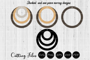 Download Free Round Stacked One Piece Earrings Svg Graphic By Hd Art for Cricut Explore, Silhouette and other cutting machines.