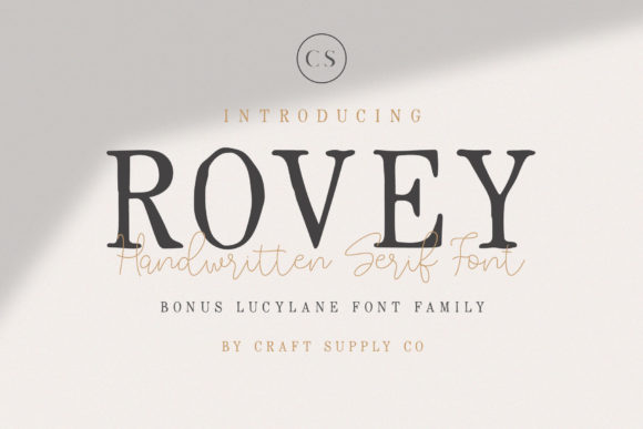 Rovey Duo Serif Font By craftsupplyco
