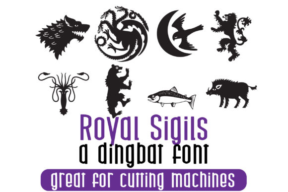 Print on Demand: Royal Sigils Dingbats Fuente Por Illustration Ink