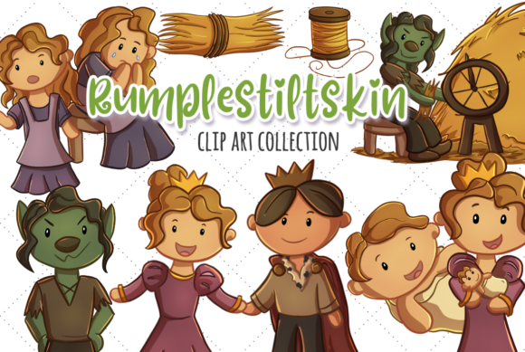 Download Free Rumpelstiltskin Fairy Tale Graphic By Keepinitkawaiidesign for Cricut Explore, Silhouette and other cutting machines.