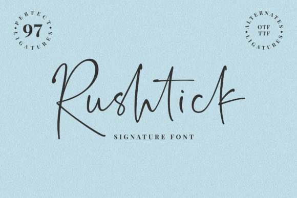 Download Free Rushtick Font By Ef Studio Creative Fabrica for Cricut Explore, Silhouette and other cutting machines.
