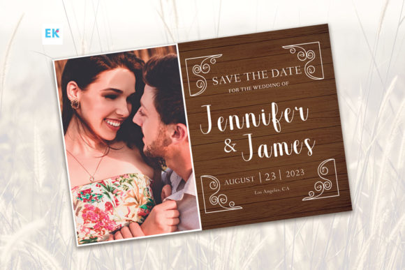Rustic Save the Date Flyer (4x6)
