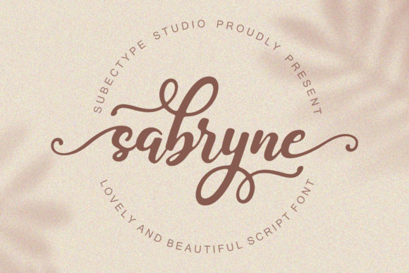 Print on Demand: Sabryne Script & Handwritten Font By Subectype - Image 1