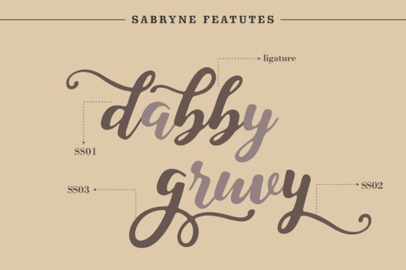 Print on Demand: Sabryne Script & Handwritten Font By Subectype - Image 9