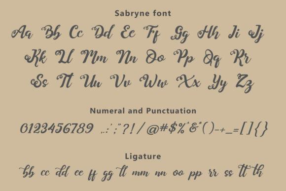Print on Demand: Sabryne Script & Handwritten Font By Subectype - Image 10