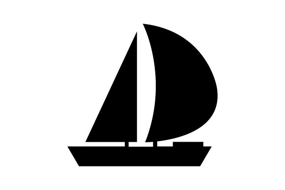 Print on Demand: Sailboat Icon Graphic Icons By marco.livolsi2014