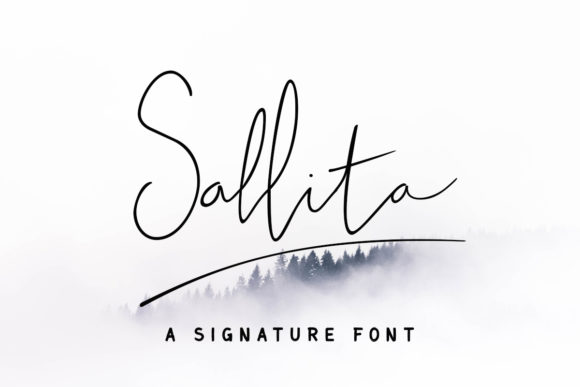 Print on Demand: Sallita Script & Handwritten Font By rimbun bambu
