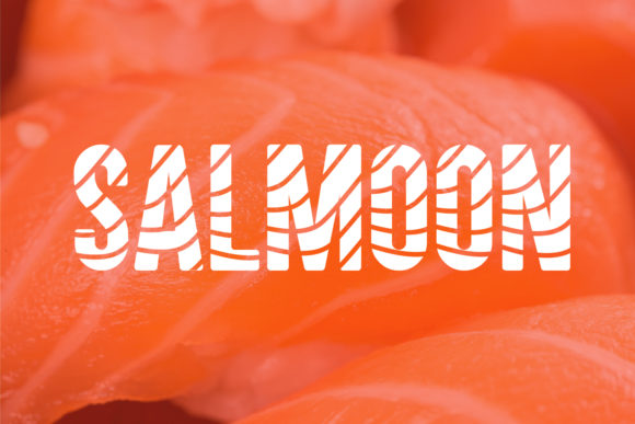 Print on Demand: Salmoon Display Font By da_only_aan - Image 1
