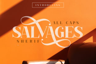 Salvages Font By Muntab_Art