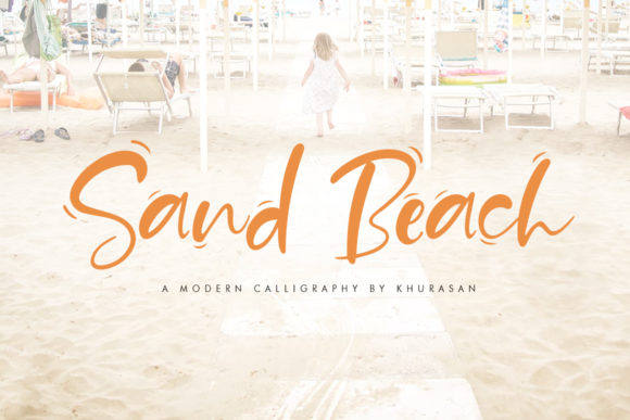 Print on Demand: Sand Beach Script & Handwritten Font By Khurasan