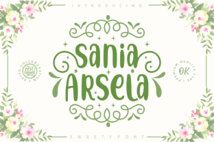 Sania Arsela Font By Adyfo (7NTypes)