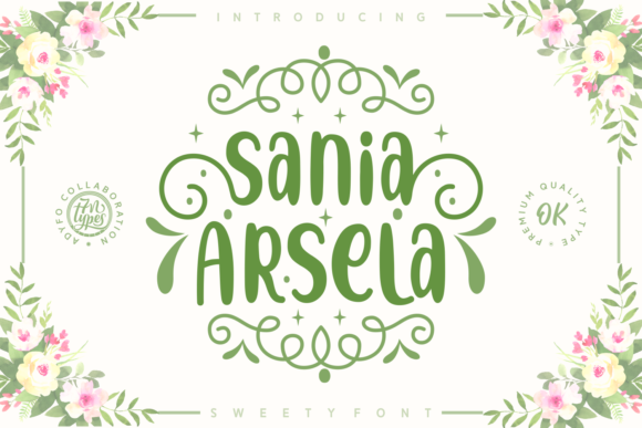 Print on Demand: Sania Arsela Script & Handwritten Font By Adyfo (7NTypes)
