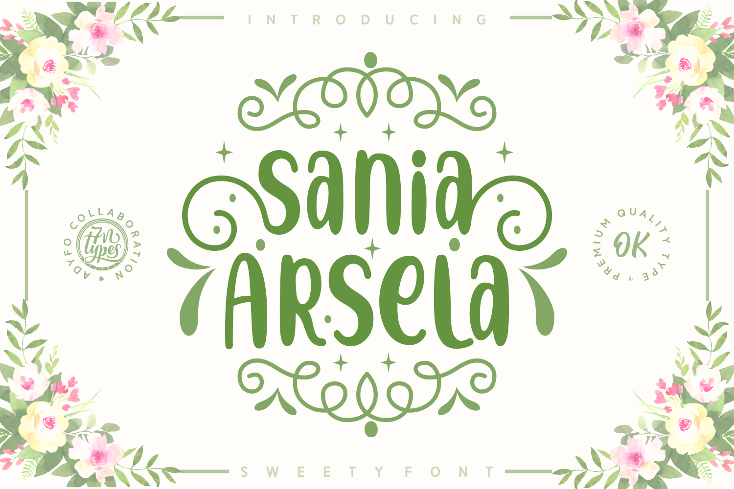 Download Free Sania Arsela Font By Adyfo 7ntypes Creative Fabrica for Cricut Explore, Silhouette and other cutting machines.