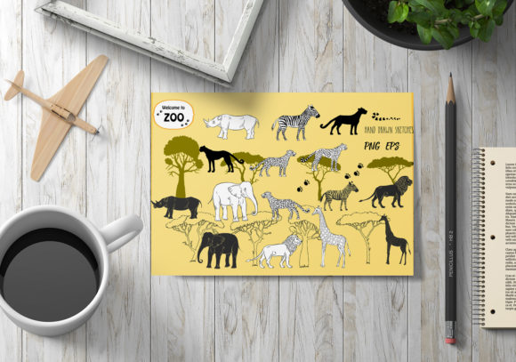 Download Free Savanna Animals Clipart Graphic By Natalia Piacheva Creative for Cricut Explore, Silhouette and other cutting machines.