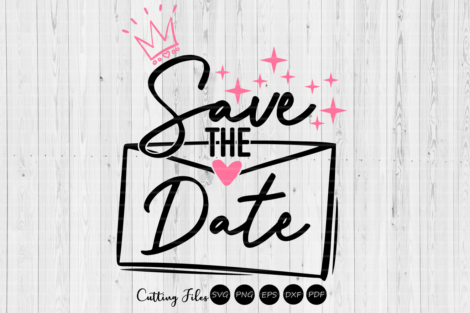 Download Free Save The Date Wedding Svg Graphic By Hd Art Workshop for Cricut Explore, Silhouette and other cutting machines.