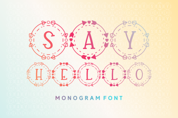 Print on Demand: Say Hello Decorative Font By Rifki (7ntypes)