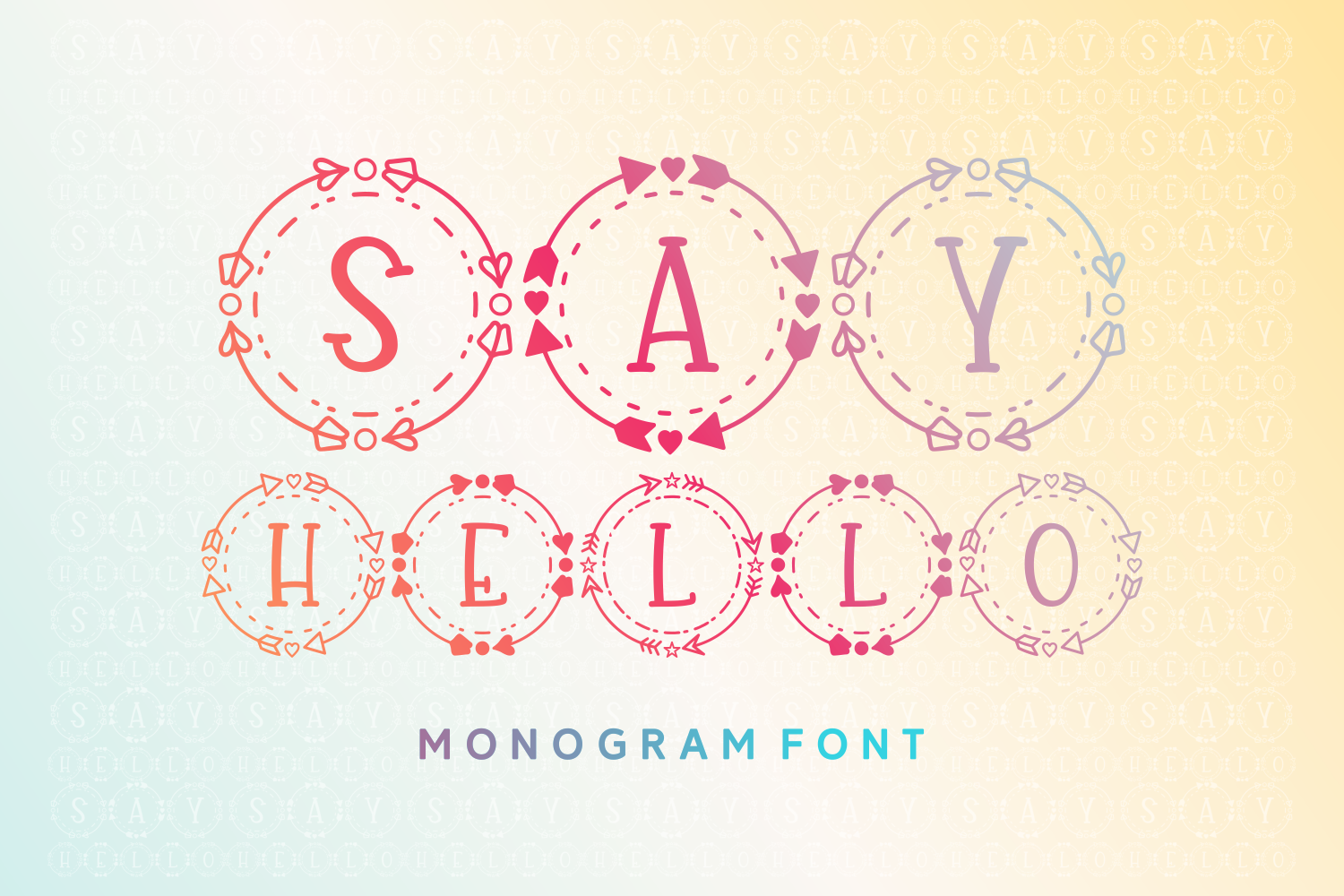Download Free Say Hello Font By Rifki 7ntypes Creative Fabrica for Cricut Explore, Silhouette and other cutting machines.