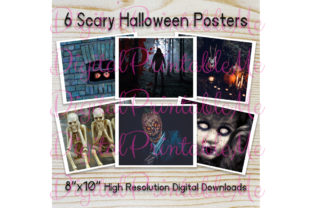 Scary Halloween Poster Background Horror Graphic By DigitalPrintableMe