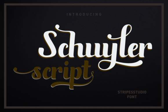 Schuyler Script Script & Handwritten Font By Stripes Studio