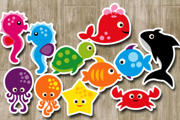 Print on Demand: Sea Animals Graphic Illustrations By Revidevi - Image 2