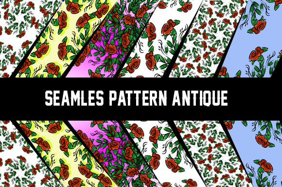 Seamles Flower Theme Graphic Patterns By ahmaddesign99