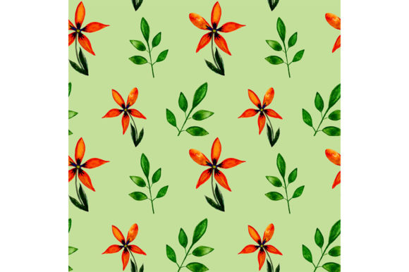 Download Free Seamless Flowers Pattern Graphic By Kakva Creative Fabrica for Cricut Explore, Silhouette and other cutting machines.