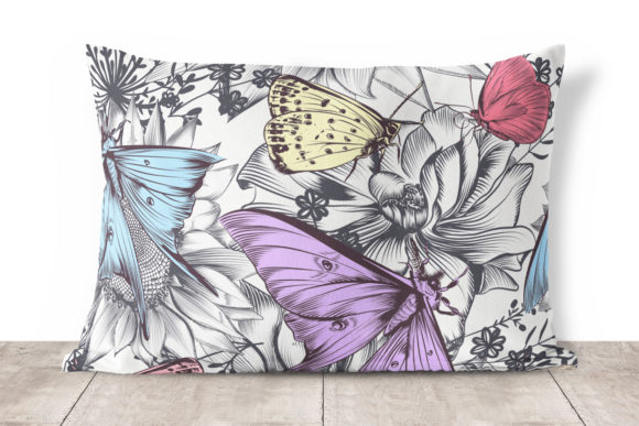 Seamless Vector Pattern with Butterflies Graphic Patterns By fleurartmariia - Image 3