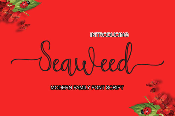 Print on Demand: Seaweed Script & Handwritten Font By Microcreative