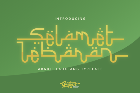 Print on Demand: Selamet Lebaran Decorative Font By GartypeStudio