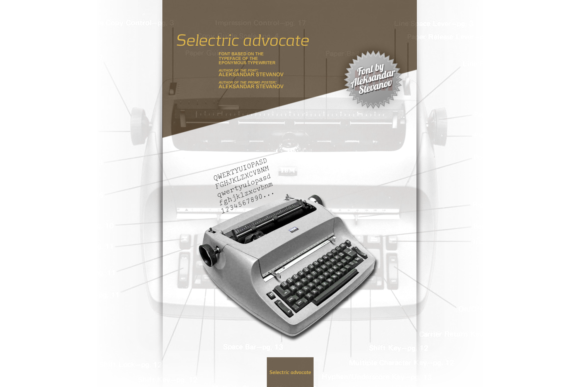 Print on Demand: Selectric Advocate Serif Font By astevanov