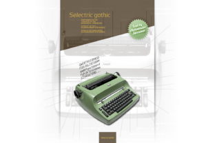 Selectric Gothic Font By astevanov