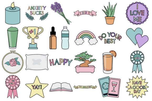 Download Free Self Care Icons Graphic By Mine Eyes Design Creative Fabrica for Cricut Explore, Silhouette and other cutting machines.
