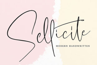 Sellicite Font By missinklab