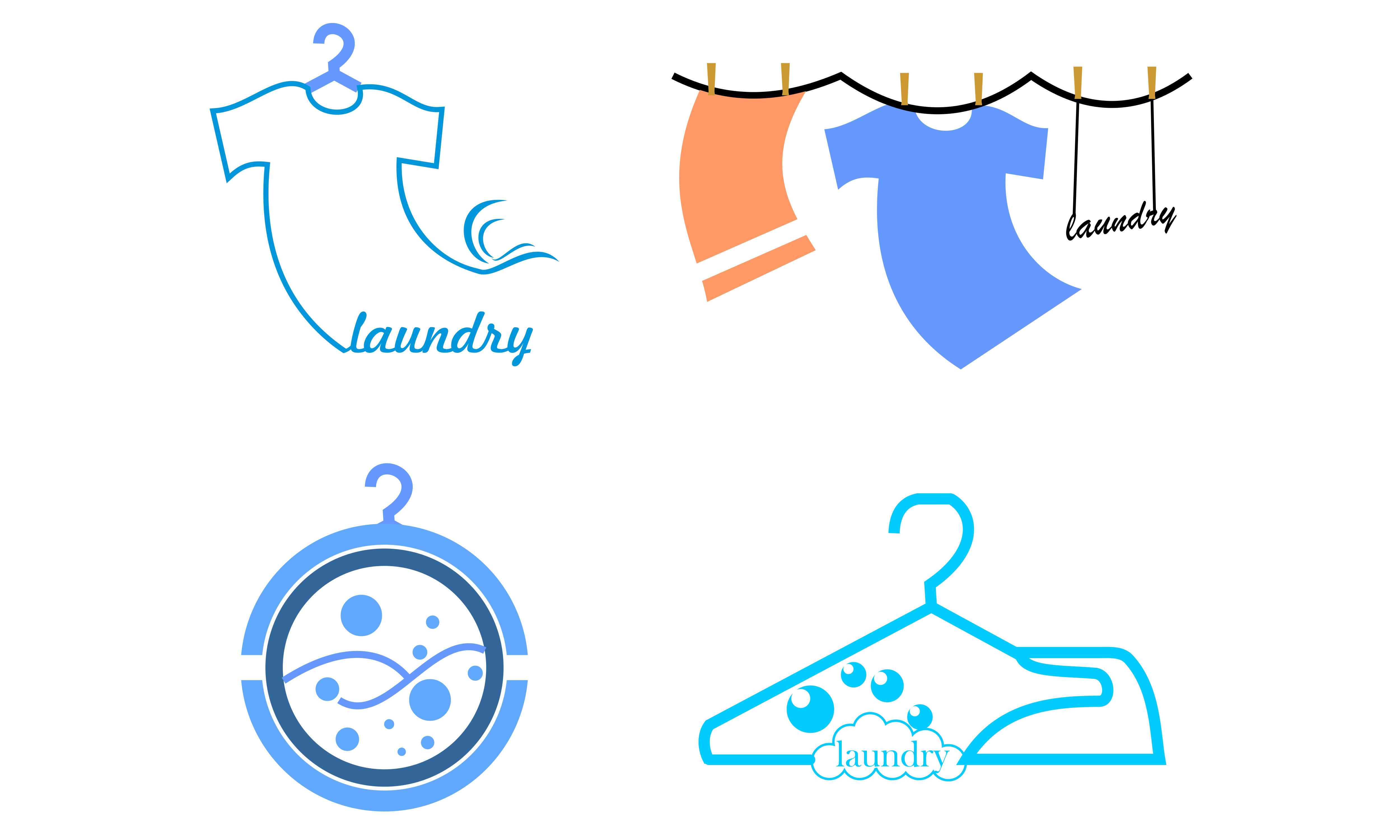 set of laundry logo graphic by 2qnah creative fabrica creative fabrica