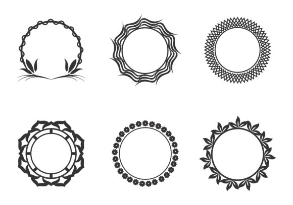 Download Free Set Of Circle Frames Wreaths For Design Graphic By 2qnah for Cricut Explore, Silhouette and other cutting machines.