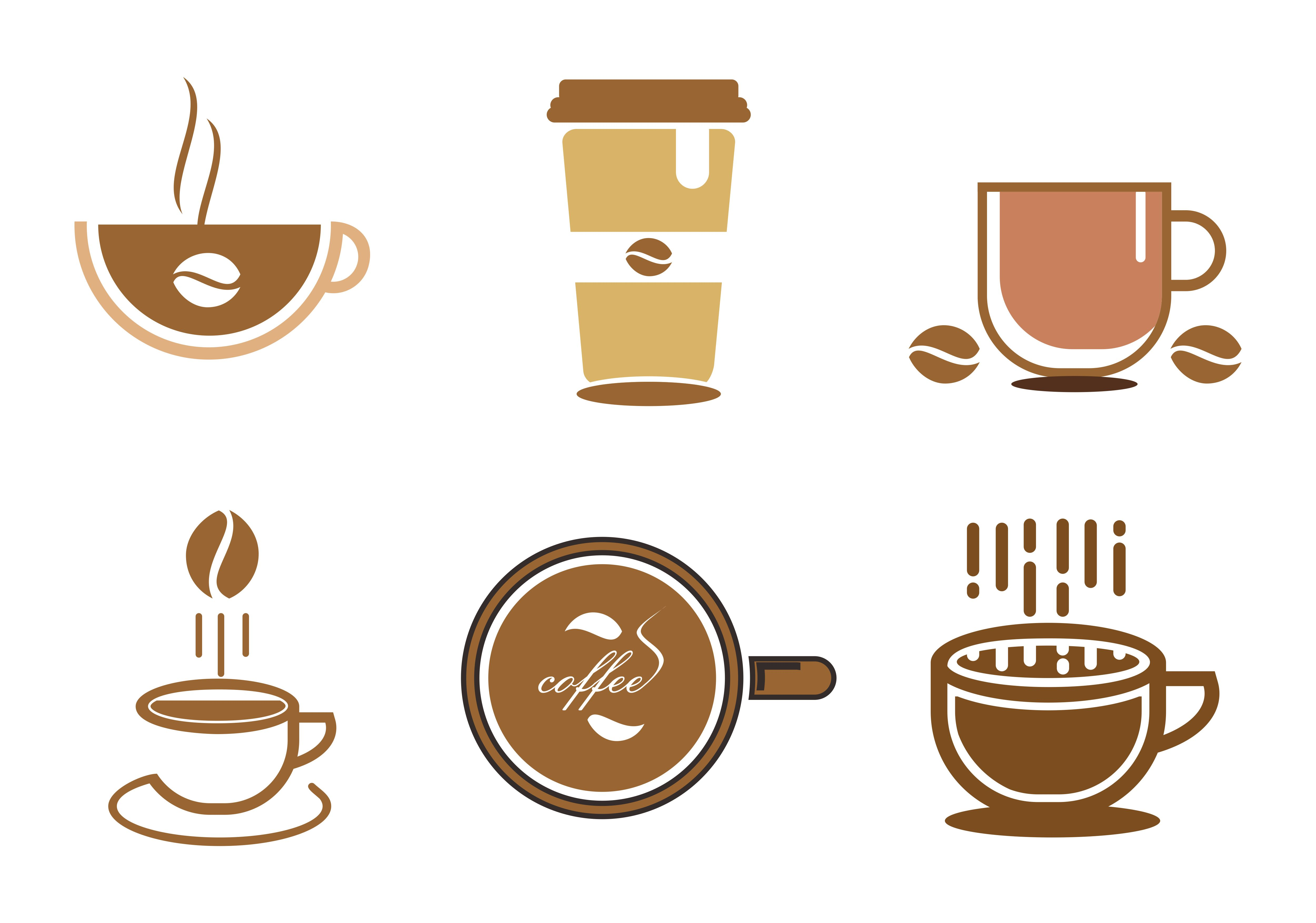 Download Free Set Of Coffee Espresso Drink Logo Graphic By 2qnah Creative for Cricut Explore, Silhouette and other cutting machines.
