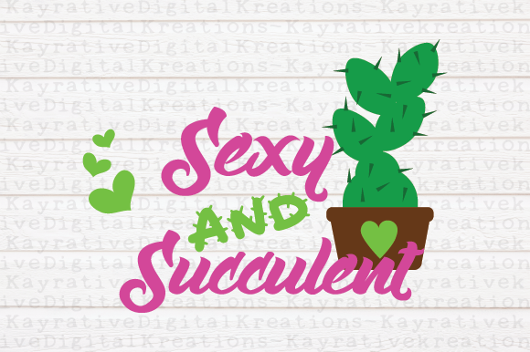 Download Free Sexy And Succulent Cactus Svg Graphic By Kayla Griffin Creative Fabrica for Cricut Explore, Silhouette and other cutting machines.