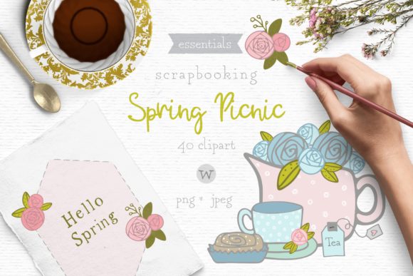 Print on Demand: Shabby Chic Clipart Graphic Illustrations By Wallifyer