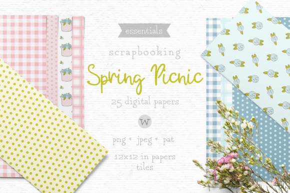 Print on Demand: Shabby Chic Digital Papers Graphic Patterns By Wallifyer