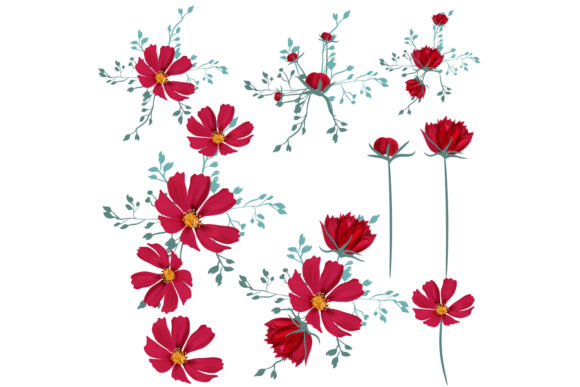 Download Free She Is Wildflower Vector Clip Art Set 2 Graphic By for Cricut Explore, Silhouette and other cutting machines.