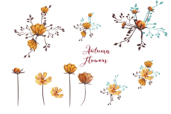 She is Wildflower, Vector Clip Art Set Graphic Objects By fleurartmariia - Image 2