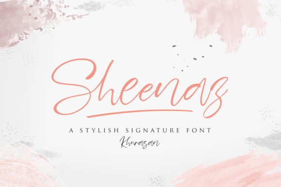 Print on Demand: Sheenaz Script & Handwritten Font By Khurasan