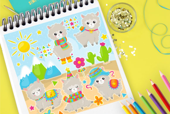 Print on Demand: Sheep Cute Clipart Graphic Illustrations By Prettygrafik