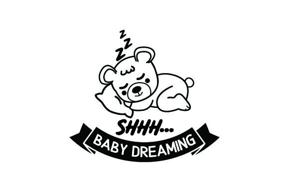 Shhh...baby Dreaming Baby Craft Cut File By Creative Fabrica Crafts