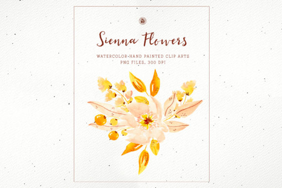Print on Demand: Sienna Flowers Graphic Illustrations By webvilla - Image 2