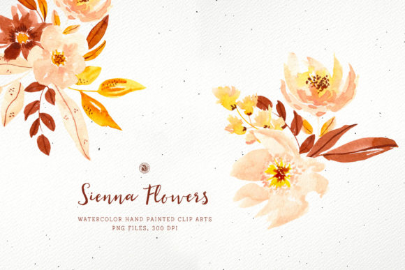 Print on Demand: Sienna Flowers Graphic Illustrations By webvilla - Image 3