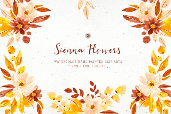 Print on Demand: Sienna Flowers Graphic Illustrations By webvilla - Image 1