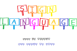 Sign Language Font By Shelley