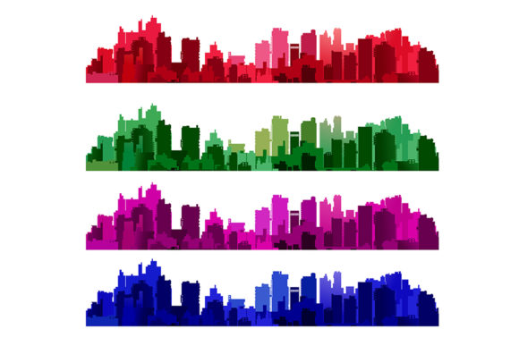 Download Free Silhouette Of A City Landscape Graphic By Alexzel Creative Fabrica for Cricut Explore, Silhouette and other cutting machines.