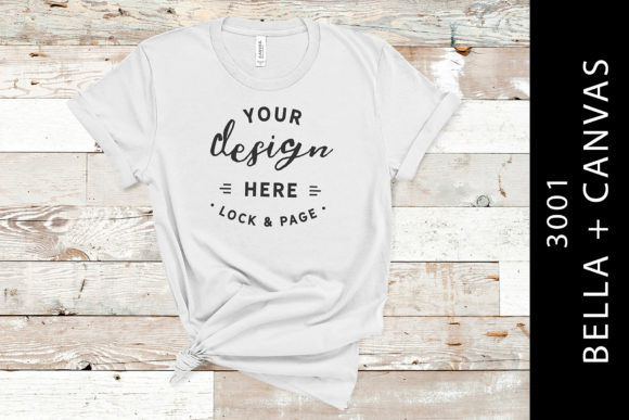Silver Bella Canvas 3001 T Shirt Mockup Graphic Product Mockups By lockandpage